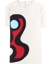 Victoria Beckham Printed Crepe Top - Lyst