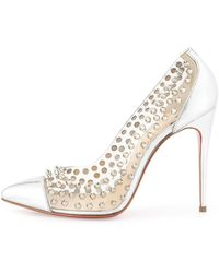 Christian Louboutin Spike Studded Red Sole Pump - Lyst