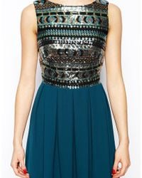 TFNC Sara Dress With Aztec Sequin Top - Lyst