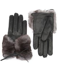 Imoni | Rabbit Fur Trim Gloves | Lyst
