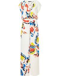 Saloni Dahlia Printed Jumpsuit multicolor - Lyst