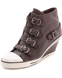 Ash Genial Low Wedge Sneakers Prune - Lyst