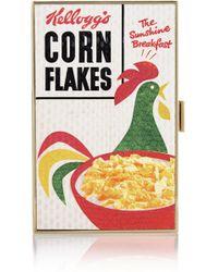 Anya Hindmarch Cornflakes Printed Elaphe Box Clutch - Lyst
