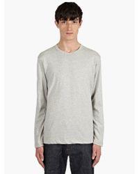 Comme Des Garçons Mens Grey Cotton Long Sleeve Tshirt - Lyst