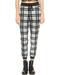 Re:named - Quilted Plaid Jogger Pants - Red/Black - Lyst