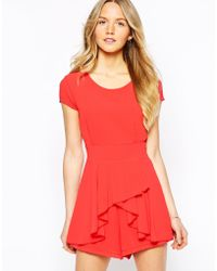 Wal-G - Playsuit With Frill Front - Lyst