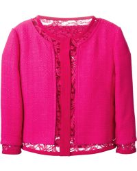 Alberta Ferretti Lace Layer Reversible Jacket - Lyst