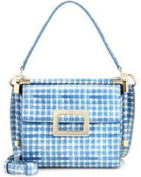 beaf2d166107 Roger Vivier - Miss Viv  Carré Mini Printed Leather Shoulder Bag - Lyst