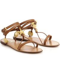 Valentino Abyss Seashell Leather Sandals - Lyst