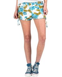 Volcom | 'swamis' Floral Print Shorts | Lyst