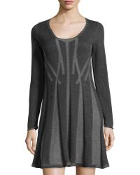Max Studio Pleated Knit Sweater Dress - Lyst