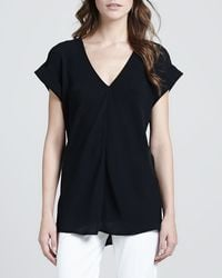 Theory Gyda Shortsleeve Blouse - Lyst