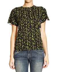 Balenciaga Tshirt Short Sleeves Round Neck Cotton Printed On Front - Lyst