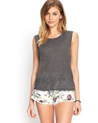 Forever 21 Easy Going Muscle Tee gray - Lyst
