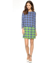 Marc By Marc Jacobs Toto Plaid Dress  Skipper Blue Multi - Lyst