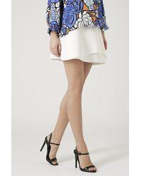 Topshop Curved Overlay Mini Skirt - Lyst