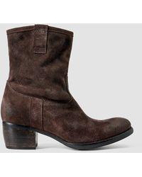 AllSaints Tex Boot brown - Lyst
