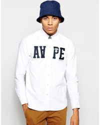 Aape - By A Bathing Ape Oxford Shirt With In Applique - Lyst