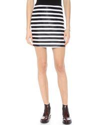 Rodarte Jacquard Miniskirt Blackwhite - Lyst