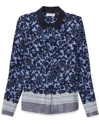 Tory Burch Blue Mimi Shirt - Lyst