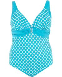 Marina Rinaldi | Scirocco Spotted Bathing Suit | Lyst