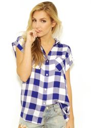 Rails Hunter Button Down In Cobalt/White white - Lyst