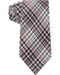 Calvin Klein Berry Shirting Raised Plaid Slim Tie - Lyst