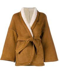 OSMAN | Shearling Herona Kimono | Lyst