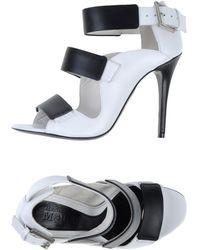 Alexander McQueen Black Sandals - Lyst