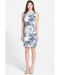 Hugo Boss 'Dinoma' Belted Sheath Dress - Lyst