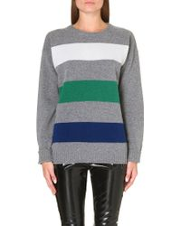 MSGM Horizontal Stripe Wool Jumper - Lyst