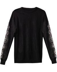 Freda Lace and Cashmere Sweater - Lyst