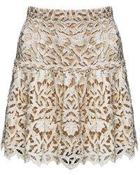 Alice + Olivia Jayce Drop Waist Skirt floral - Lyst