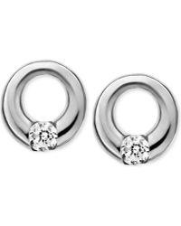 Skagen   Elin Silver-tone Circle Stud Earrings   Lyst