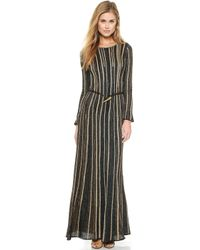 M Missoni Lurex Vertical Stripe Gown - Marine - Lyst