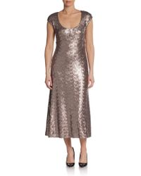 Marc Jacobs Sequin Capsleeve Dress - Lyst