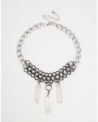 Asos Solstice Shard Choker Necklace - Lyst