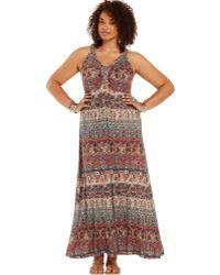 American Rag - Plus Size Sleeveless Printed Maxi Dress - Lyst