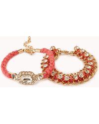 Forever 21 - Touch-of-glam Bracelet Set - Lyst