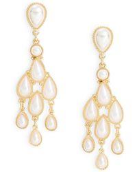 Catherine Stein | Faux Pearl Chandelier Earrings | Lyst