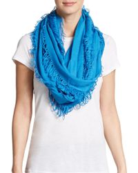 Saks Fifth Avenue Frayed Woven Scarf - Lyst