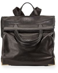 Alexander Wang Prisma Leather Fold-over Backpack - Lyst