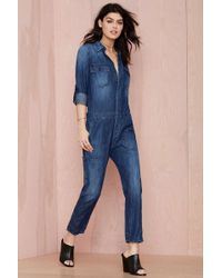 Nasty Gal Citizens Of Humanity Tallulah Denim Jumpsuit - Lyst