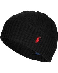 Polo Ralph Lauren Merino Wool-cashmere Cable Knit Hat - Lyst