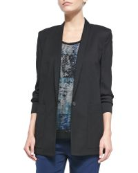 Helmut Lang Cove Long Straight Suit Blazer - Lyst