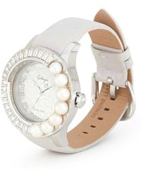 Galtiscopio - 'amour Perle' Pearl And Crystal Lace Dial Watch - Lyst