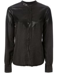 Diesel Black Gold Coated Cardigan - Lyst