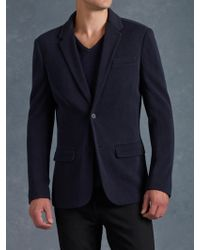 John Varvatos Notch Lapel Sweater Jacket - Lyst