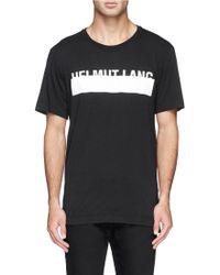 Helmut Lang Logo Band Print Tank Top black - Lyst