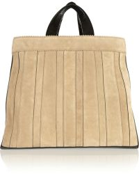 Tamara Mellon - Sugar Daddy Suede And Textured-Leather Tote - Lyst
